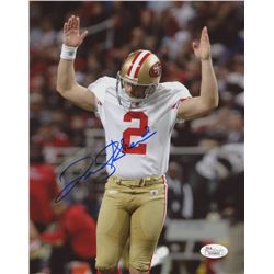 David Akers Signed 49ers 8x10 Photo (JSA COA)