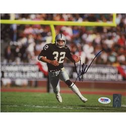 Marcus Allen Signed Raiders 8x10 Photo (PSA COA  Allen Hologram)