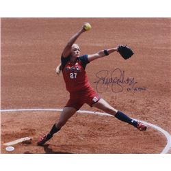"Jennie Finch Signed Team USA 16x20 Photo Inscribed ""04' USA Gold"" (JSA COA)"