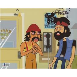 "Tommy Chong Signed ""Cheech  Chong's Animated Movie!"" 8x10 Photo (Beckett COA)"