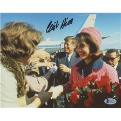 Clint Hill Signed 8x10 Photo with John F. Kennedy  Jacqueline Kennedy Onassis (Beckett COA)