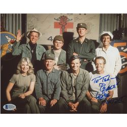 "Mike Farrell Signed ""M*A*S*H*"" 8x10 Photo Inscribed ""Peace!"" (Beckett COA)"