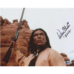 """Wes Studi Signed """"Geronimo: An American Legend"""" 8x10 Photo Inscribed """"2017"""" (Beckett COA)"""