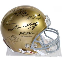 1988 Notre Dame Fighting Irish Full-Size Authentic Pro-Line Helmet Signed by (6) with Lou Holtz, Ric