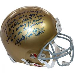 Rudy Ruettiger Signed Notre Dame Fighting Irish Full Size Authentic Proline Helmet with Extensive In
