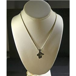".925 SILVER DIAMOND CUT 17"" ROPE CHAIN"