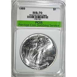 1989 AMERICAN SILVER EAGLE, PCSS PERFECT GEM BU