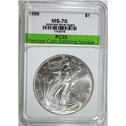 1996 AMERICAN SILVER EAGLE, PCSS PERFECT GEM BU