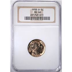 1938 BUFFALO NICKEL, NGC MS-66
