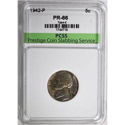 1942-P JEFFERSON NICKEL, PCSS GEM PROOF