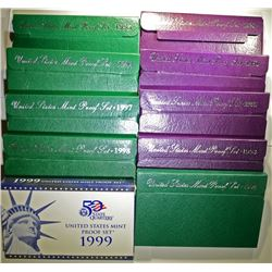Run of 1990's Proof Sets.