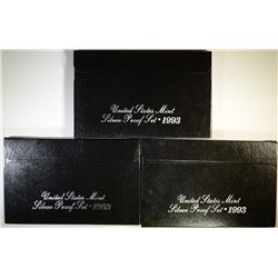(3) 1993 Silver Proof Sets.