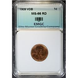 1909 VDB LINCON CENT EMGC SUPERB