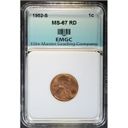 1952-S LINCOLN CENT EMGC SUPERB GEM