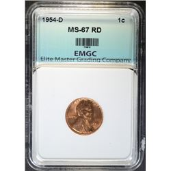 1954-D LINCOLN CENT EMGC SUPERB GEM