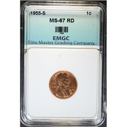 1955-S LINCOLN CENT EMGC SUPERB GEM