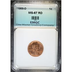 1955-D LINCOLN CENT EMGC SUPERB GEM