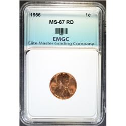 1956 LINCOLN CENT EMGC SUPERB GEM