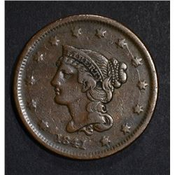 1841 LARGE CENT  VF/XF
