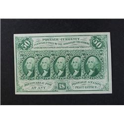 1862 50 CENTS FRACTIONAL CURRENCY 1ST ISSUE