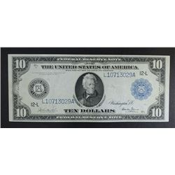 1914 $10 FEDERAL RESERVE NOTE  XF/AU