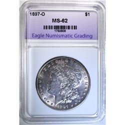 1897-O MORGAN DOLLAR, ENG  BU
