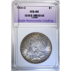 1900-O MORGAN DOLLAR, ENG SIPERB GEM BU