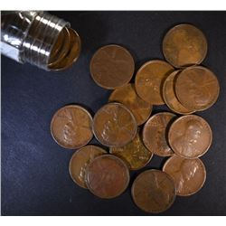 1909 VDB LINCOLN CENT ROLL ( 50 )