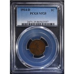 1914-D LINCOLN CENT PCGS VF 25