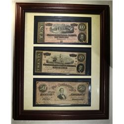 4 -CONFEDERATE NOTES; 2-1862 25c & 10c
