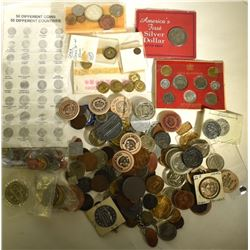 HUGE TOKEN / FOREIGN COIN LOT: OLDER