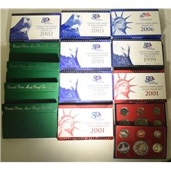 PROOF SETS; 2 - 2001 SILVER PROOF SETS;