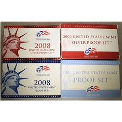 2008 & 2009 SILVER PROOF SETS & PROOF