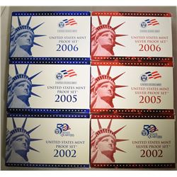 2002, 2005, 2006 SILVER PROOF & PROOF