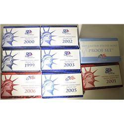 U.S. PROOF & SILVER PROOF SETS; 2001 &