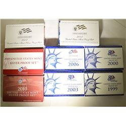 U.S. PROOF & SILVER PROOF SETS; 2007 &