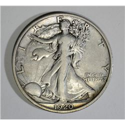 1920 WALKING LIBERTY HALF DOLLAR, AU/BU