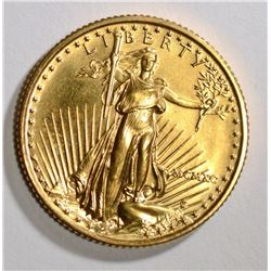 1990 $10 AMERICAN GOLD EAGLE GEM BU PERFECT
