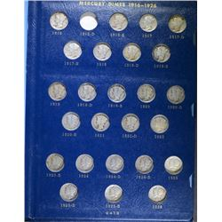 1946-1964 CH BU MERCURY DIME SET: WHITMAN ALBUM