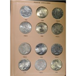 PEACE SILVER DOLLAR SET MISSING ONLY 1928- ALBUM