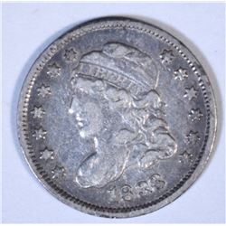1833 CAPPED BUST HALF DIME, VF