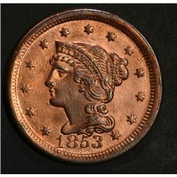 1853 LARGE CENT CH BU RB