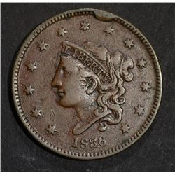 1836 LARGE CENT  XF+