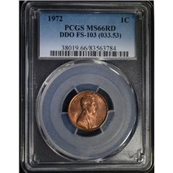 1972 LINCOLN CENT PCGS MS66RD