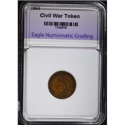 1863 CIVIL WAR TOKEN / INDIAN HEAD