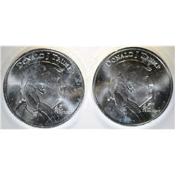 2- DONALD TRUMP/ WHITEHOUSE 1oz .999 SILVER ROUNDS