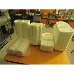 Large lot of takeout containers X5