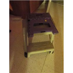 2 stepping stools 1 foldable