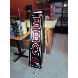 Electric lite-up BBQ sign