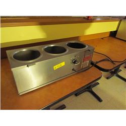 3 dish stainless steel warmer by server products, Model: DI-392040, 120V